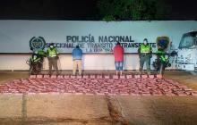Policía de la Guajira captura dos hombres e incauta 175 kilos de marihuana