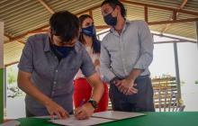 Entregan predio para construcción de estación de aguas residuales en La Cangrejera