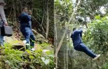 Cantante cayó de una altura de 10 metros al cruzar un río en una tirolesa