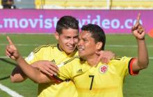 James Rodríguez y Carlos Bacca le desearon éxitos a la Selección Colombia