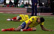 Andrés Andrade sufre de un esguince en su tobillo izquierdo