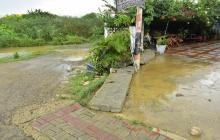 Viviendas de Santa Verónica, inundadas tras intensas lluvias
