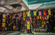 Comerciantes expectantes con las ventas 'tricolor'