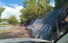 Damnificados se mudan a la vía San Marcos-Majagual