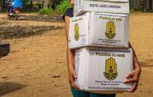 Entregan alimentos vencidos a afectados por las lluvias en La Mojana
