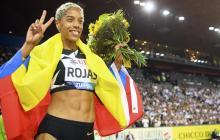 Yulimar Rojas celebró su primera Liga de Diamante