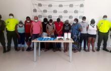 Capturan diez vinculados con la venta de estupefacientes en el sur de La Guajira