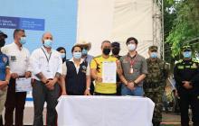 16 municipios fueron declarados como libres de sospecha de minas antipersonas