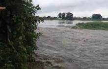 Se desbordó el río en San Etanislao de Kotska, Bolívar