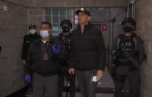Así fue trasladado Emilio Tapia al pabellón de máxima seguridad de La Picota