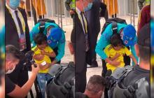 Neymar tuvo un enorme gesto con un niño colombiano