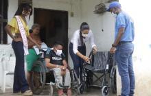 Srta. Atlántico lideró entrega de equipos de movilidad a la etnia Mokaná