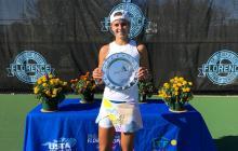 Emiliana Arango se quedó con el título  W25 de Florence