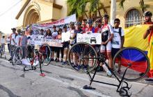 En imágenes | Ciclistas barranquilleros realizan plantón