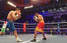 En imágenes   Hugo Berrío pierde su título intercontinental Supergallo de la AMB en Rusia