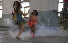 Así se realiza la grabación del video de la canción de Carnaval de Valeria Abuchaibe