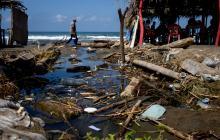 Playas de salgar invadidas por la basura