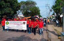 Trabajadores marchan y conmemoran el 1 de mayo en Cartagena