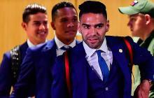Imágenes de la llegada de la Selección Colombia a Rusia