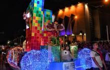 En imágenes | La Gran Parada de la Luz iluminó la noche barranquillera