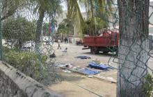Así quedaron las mallas de protección del Hotel El Prado, tras desmanes en la Berbetronik