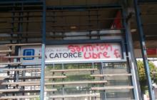 Así quedaron estaciones de Transmetro tras actos vandálicos durante marcha