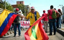 Estas son las imágenes que deja la marcha de trabajadores en Barranquilla