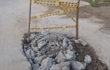 Arreglan fuga de agua en Baranoa