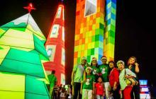 Luces de colores iluminan las zonas representativas de Barranquilla en esta Navidad