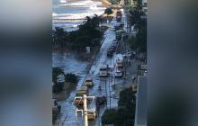 En imágenes   Problemas de movilidad en Cartagena por mar de leva