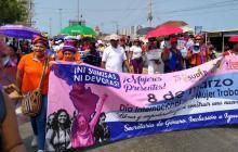 Mujeres conmemoran su día con marcha en Cartagena