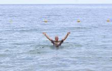 Turistas disfrutan nuevamente de las playas de Santa Marta