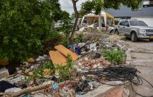 Así lucen los basureros en las calles de Barranquilla