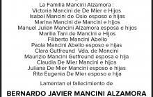 BERNARDO JAVIER MANCINI ALZAMORA