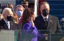Momentos de la posesión de Presidente y Vicepresidenta de EE.UU.
