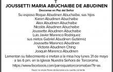 JOUSSETTI MARÍA ABUCHAIBE DE ABUDINEN