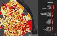 Mapa del COVID-19 en Barranquilla