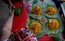 Así se cocinan los pasteles en Pital de Megua