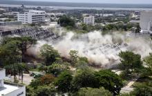 En video: La demolición del Humberto Perea desde un dron