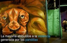En video | Con grafitis tapan simbología pandillera en El Salvador