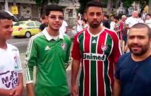 Hinchas del Fluminense, archirrival de Flamengo, le hacen fuerza a Junior