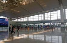 En video | El momento en que se desploma el techo de un aeropuerto en China