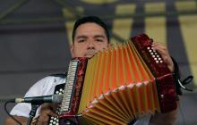 Rodolfo de la Valle en su presentación en la Plaza Alfonso López.