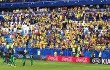 Con aplausos, hinchas colombianos despiden a Senegal del Mundial