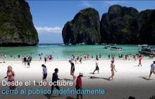 """Célebre bahía de la película """"La Playa"""" cierra indefinidamente"""