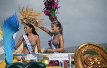Señorita Colombia anima a cartageneros en desfile de la Independencia