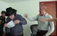 Vea el momento en que alcalde de Bucaramanga golpea a concejal en medio de discusión