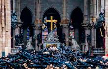 En video   Así amaneció el interior de Notre Dame luego de sofocado el fuego