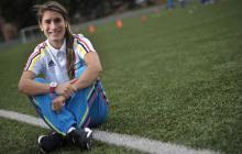 Selección Colombia presenta a Daniela Montoya, volante de las Tiburonas que estará en los Panamericanos