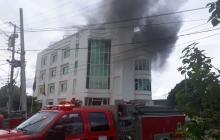 En video   Se incendia sede de la Policía de Bolívar